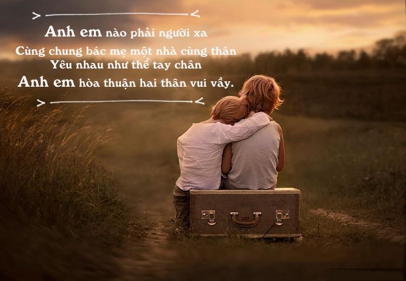 thơ hay về tình anh em
